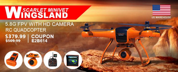 Wingsland Scarlet Minivet - $379.99 Buy Wingsland Scarlet Minivet RC Quadcopter Use Coupon Code