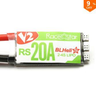 Racerstar RS20A V2 New 20A Blheli_S OPTO 2-4S ESC