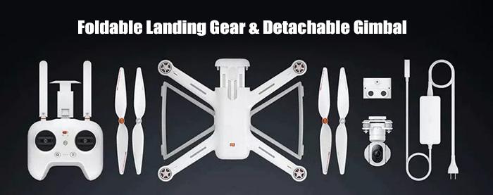 foldable landing gear detachable gimbal - 47% OFF Buy XIAOMI Mi Drone 1080P WIFI FPV Quadcopter