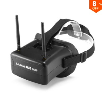 Eachine VR008 Duo Antennas 4.3 Inch 5.8G Raceband FPV Goggles