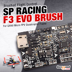 F3 EVO Brush - SP RACING F3 EVO Brush Flight Control For Micro FPV Frame