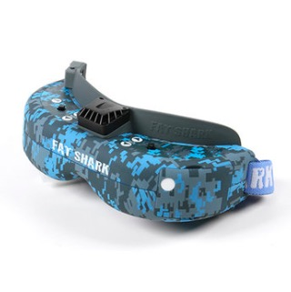New Fatshark Dominator V3 Hydro-Dipped Blue and Grey FPV Goggle