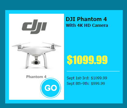 dji phantom 4 lower price - Focus on Banggood 10th  Anniversary Party  : Sept 8th ~ Sept 10th