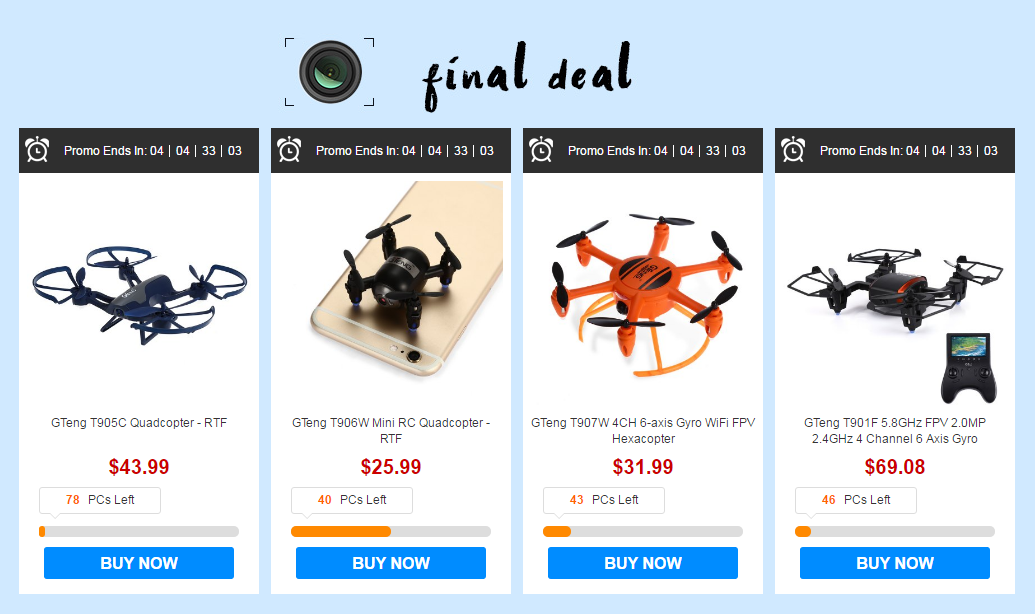 Gteng drone deal - Gearbest : GTeng Brand Sale of One Hour Seckill Save Up to 50% Off