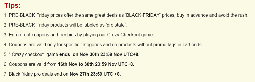 Black Friday Sale Tips - Black Friday Sale at Banggood!