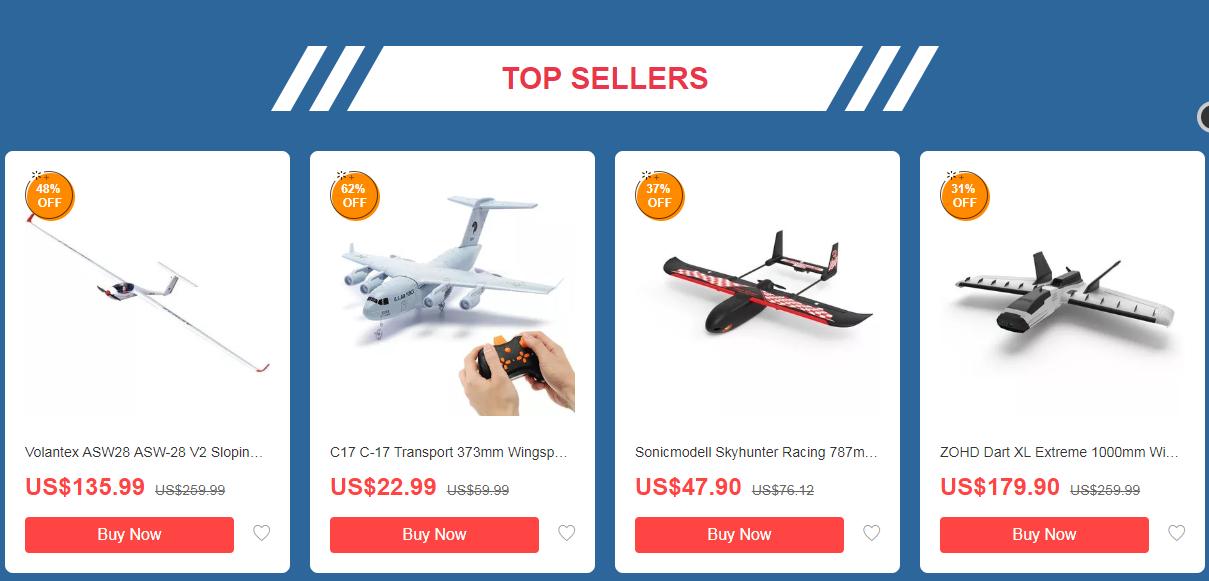 banggood rc airplane topsellers - Weekly Deal Updated Every Monday - Banggood RC Aircrafts