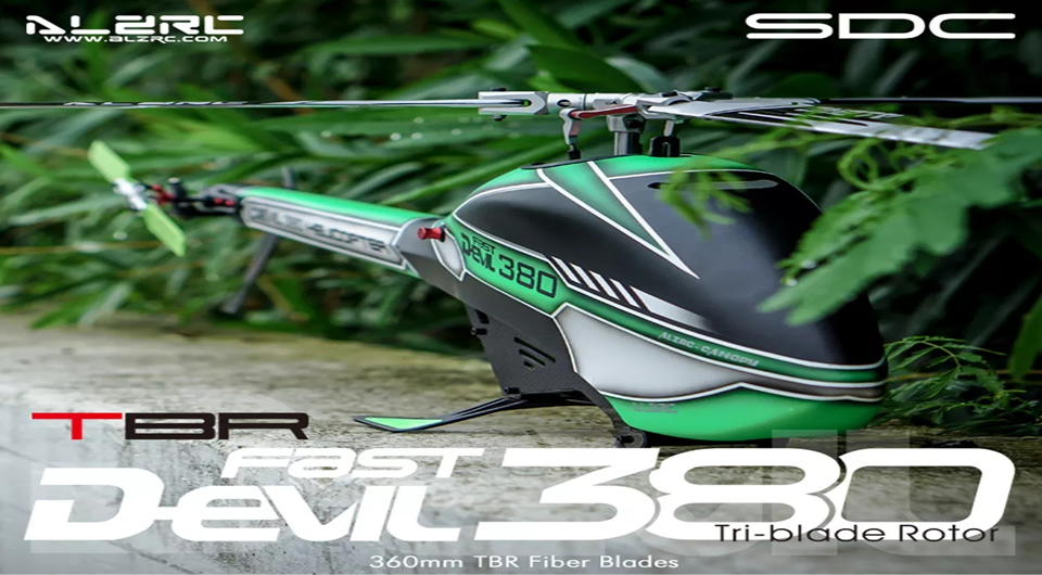 ALZRC Devil 380 FAST RC Helicopter - Hookll EXTRA 300-L RC Airplane KIT