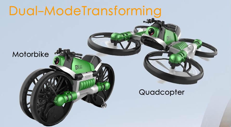 Dual-Mode-Transforming-Motorbike-Quadcopter