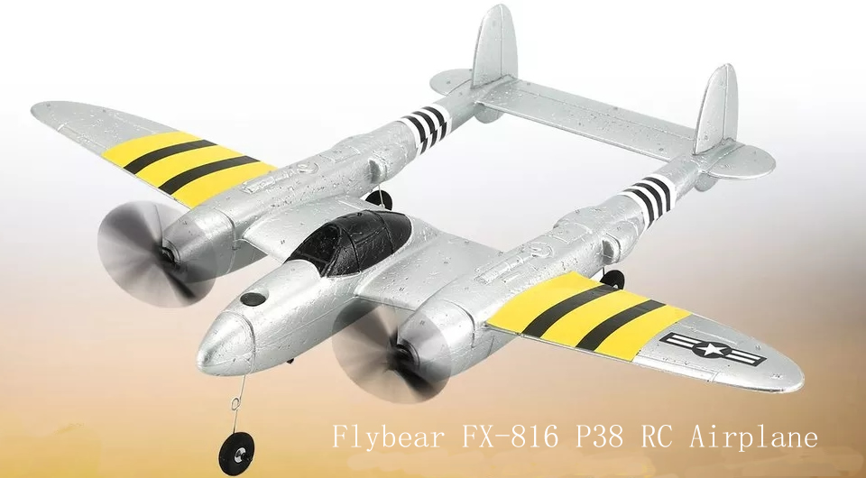 Flybear FX 816 P38 RC Airplane 1 - Mirarobot S60 Mini LED/FPV Racing Drone Quadcopter