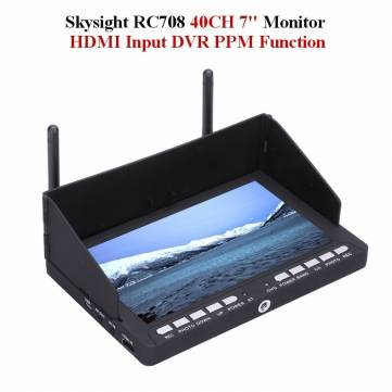 Skysight RC708 5.8G 40CH Diversity Rx 7 Inch Monitor