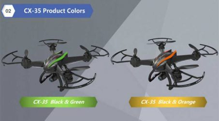 Cheerson CX-35 With 2MP Wide Angle HD Camera Gimbal RC Quadcopter