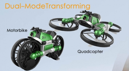 Creative 2.4G WiFi Dual-Mode Transforming Motorbike Quadcopter