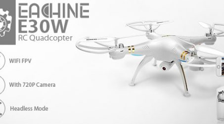 8%OFF Buy Eachine E30W WIFI FPV RC Quadcopter at Banggood