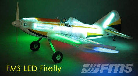 FMS LED Firefly 43 inch Wingspan Night Flying RC Airplane