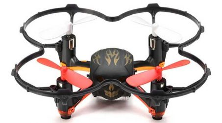 GW008 Mini Skull 3D Rolling RC Quadcopter