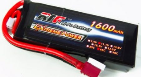 Giant Power RTF 1600mAh 11.1V 3S 65C Lipo Battery