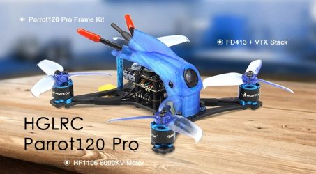 HGLRC Parrot120 Pro F4 Toothpick FPV Racing Drone