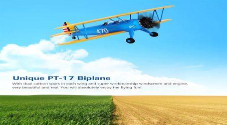 Hookll PT-17 1200mm Wingspan Biplane