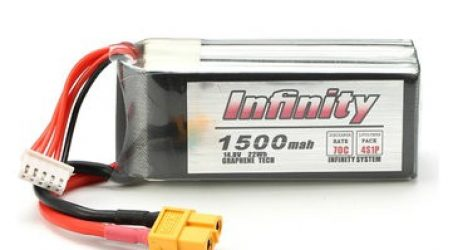 Infinity 4S 14.8V 1500mAh 70C Graphene LiPo Battery XT60 For Racer Drone