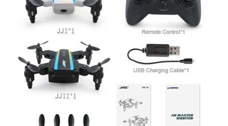 JJRC H345 Mini Foldable Arm Double RC Drone Quadcopter