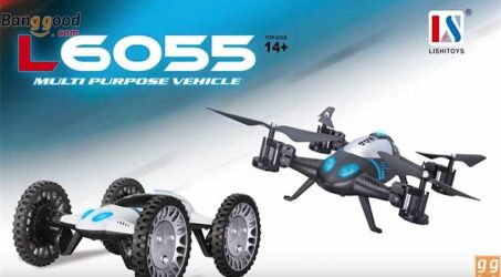 Lishitoys L6055 Land & Sky 2 in 1 flying Car RC Quadcopter