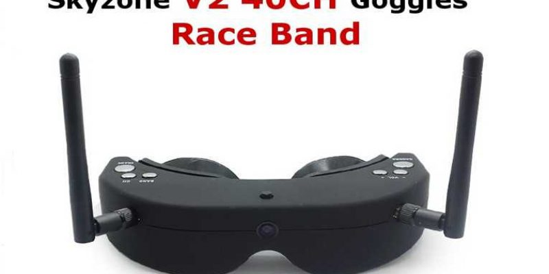 Skyzone V2 Goggles With Raceband Video Glasses Headset