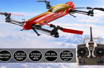 WLtoys V383 500 Electric 3D RC Drone Flying Video
