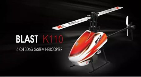 XK K110 Blast 6CH Brushless RC Helicopter BNF
