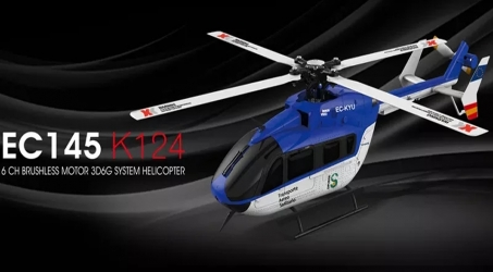 XK K124 6CH Brushless EC145 RC Helicopter RTF