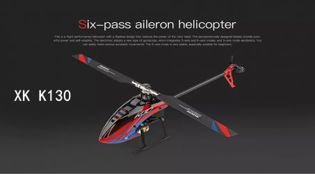 XK K130 2.4G 6CH Brushless RC Helicopter RTF