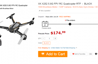 It's Good Time to Buy XK X252 5.8G FPV RC Quadcopter
