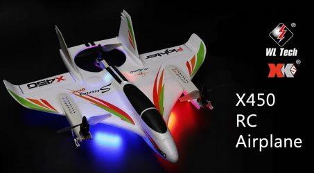 WLtoys XK X450 2.4G 6CH 3D/6G RC Airplane
