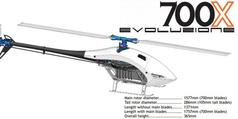 XLPower MSH PROTOS 700X RC Helicopter