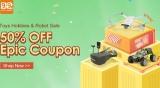 Banggood 13th Anniversary Sale – Toys Hobbies & Robots Sale