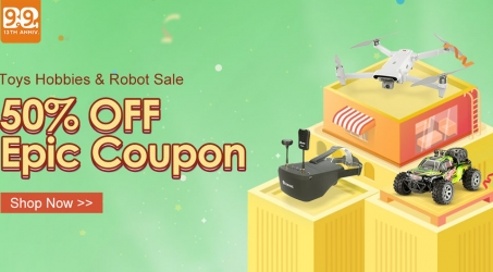 Banggood 13th Anniversary Sale – Toys Hobbies & Robots Sale