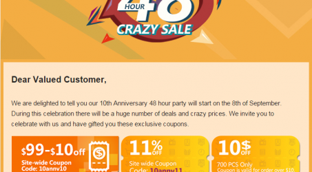 How to Use Banggood 10th Anniversary Party Site Wide Coupons Save Money