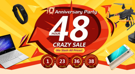 Banggood 10th Anniversary Party 48 Hour Crazy Sale is Opening…