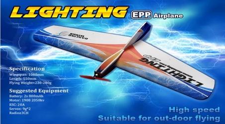 Dancing Wings Hobby Lighting RC Airplane