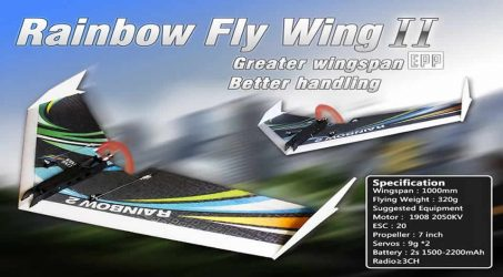 DW Hobby Upgraded Rainbow Ⅱ RC Airplane