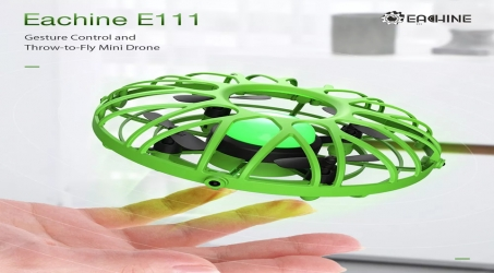 Eachine E111 Mini RC Quadcopter BNF – Green