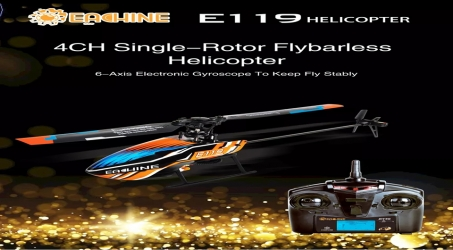 Eachine E119 2.4G 4CH RC Helicopter RTF