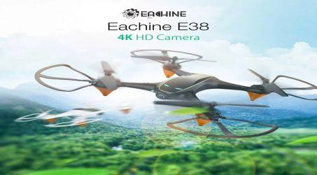 Eachine E38 RC Quadcopter RTF – Black One Battery