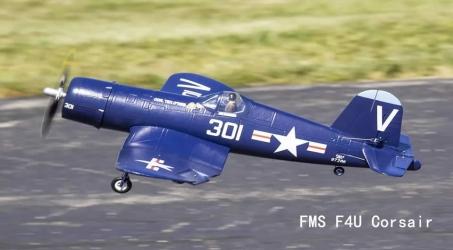 FMS F4U Corsair V2 Blue 800mm RC Airplane PNP