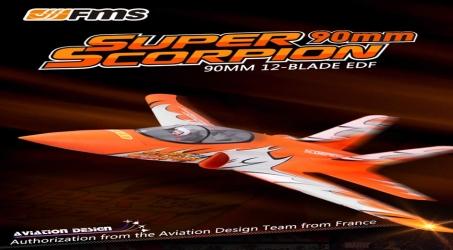 FMS Super Scorpion 90mm EDF RC Airplane PNP