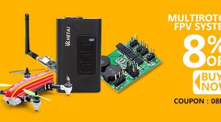 8% Off Coupon Code Buy Multirotor FPV System at Banggood