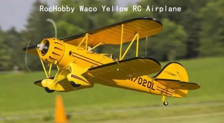 RocHobby Waco Yellow RC Airplane