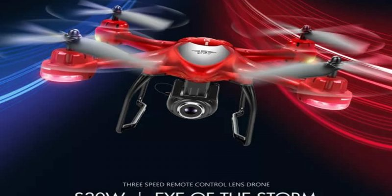 SJRC S30W GPS FPV RC Quadcopter – Red