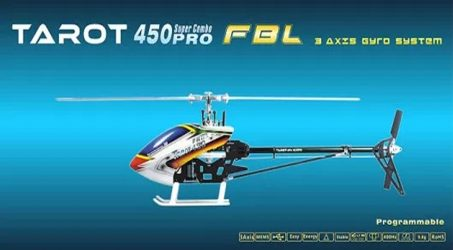 Tarot 450 PRO V2 FBL RC Helicopter KIT – Silver