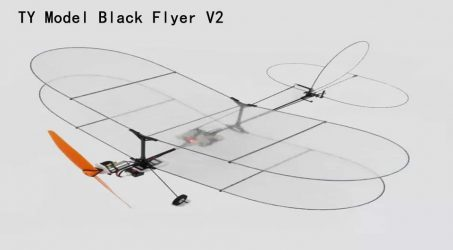 TY Model Black Flyer V2 RC Airplane