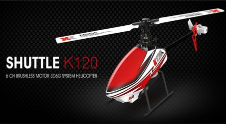 XK K120 Shuttle 6CH Brushless RC Helicopter RTF